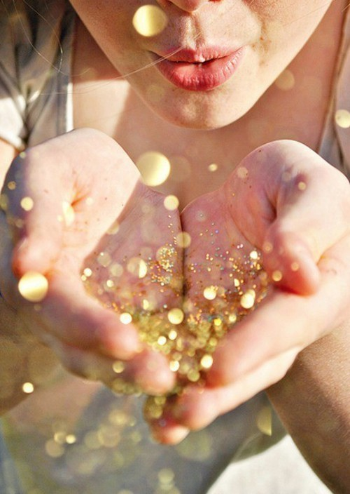 Doesn 39 t this whimsical image of a girl blowing glitter from the palms