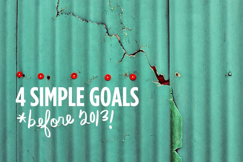 Setting simple goals makes us take our personal fulfillment seriously