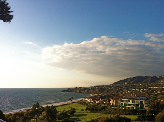 A shot of the Laguna Niguel coastline from our balcony