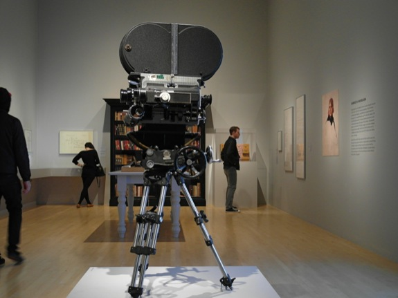 Stanley Kubrick's camera on display at the Los Angeles County Museum of Art