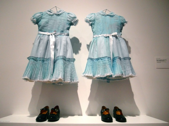 "Costumes of the creepy twin girls from ""The Shining"""
