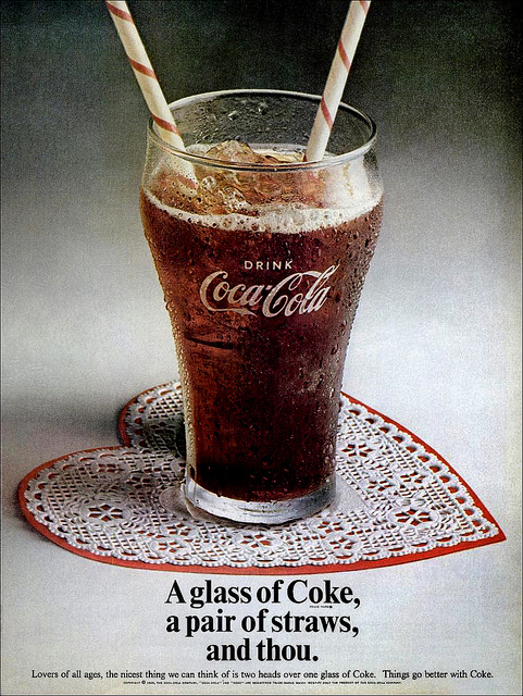 Coca-Cola ad circa Valentine's Day 1969