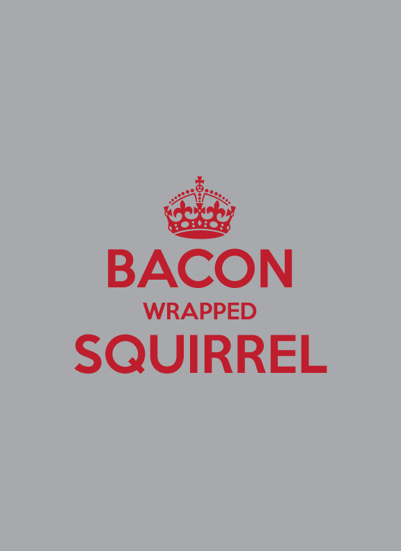 Who wants a Bacon Wrapped Squirrel t-shirt?