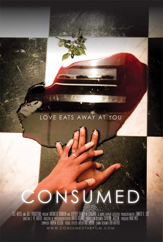Official poster for CONSUMED, my short film