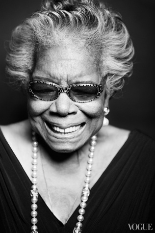 Maya Angelou photographed by Taylor Jewell
