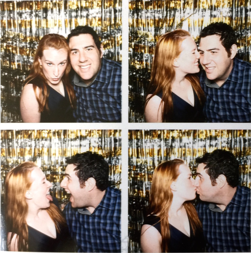 The husband and me silly-ing it up at a holiday party
