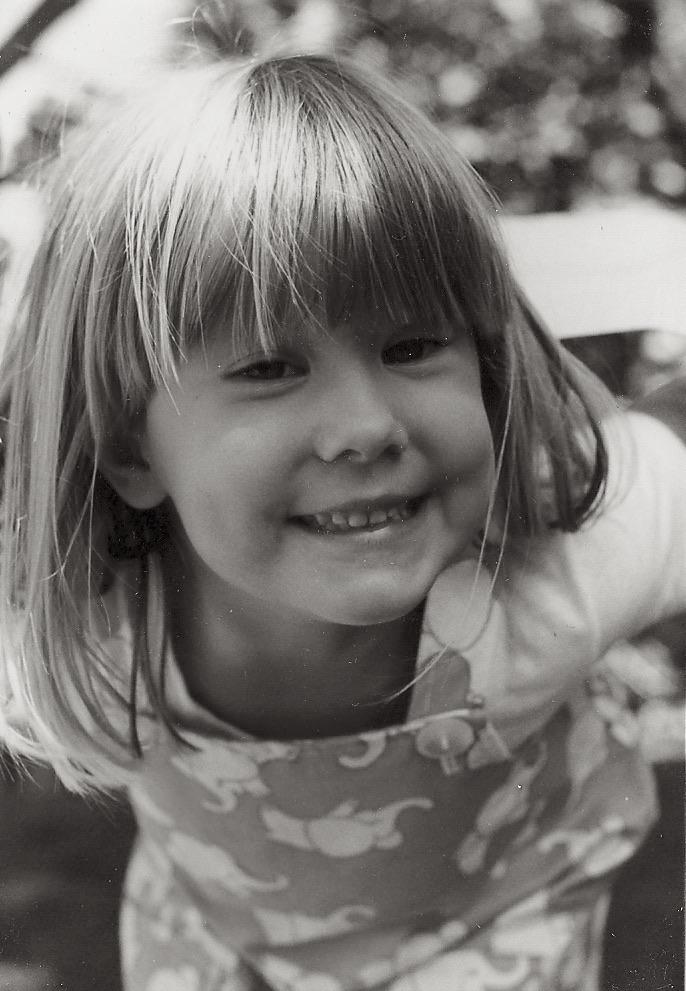 Jennifer Coté as a child