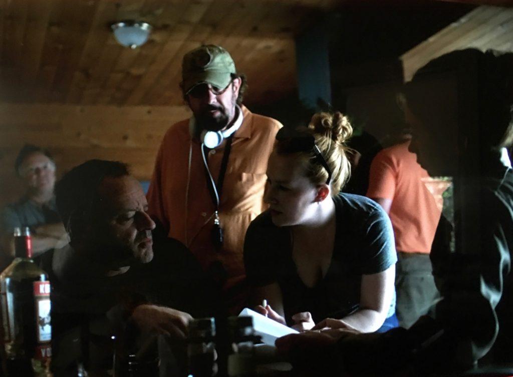 Jennifer Coté with Julianne Nicholson, Gil Bellows, and Director Rob Lieberman